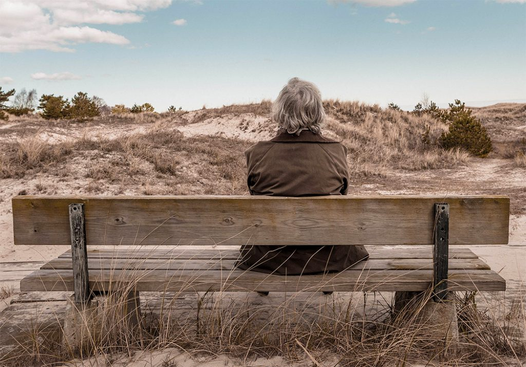 Alone on bench after unexpected divorce