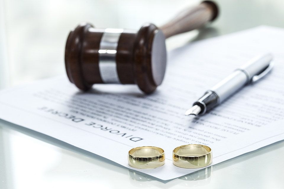 divorce decree with rings